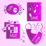 Clearance Discount Sale Spring offer Icons Stock Images