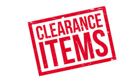 Clearance Items rubber stamp