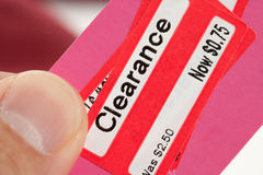Clearance Price Tag Royalty Free Stock Photography