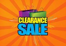 Clearance sale sign Stock Photos