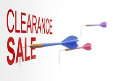 Clearance sale. With art symbol of marketing and promotion Royalty Free Stock Image