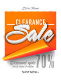 Clearance Sale Banner or Pamphlet. Stock Images