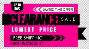 Clearance sale banner Stock Images