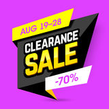 Clearance Sale banner Stock Photos