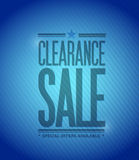 Clearance sale concept illustration design Stock Images