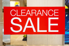 Clearance sale cut out in fashion mall Royalty Free Stock Photo