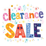 Clearance sale decorative lettering type design Royalty Free Stock Image