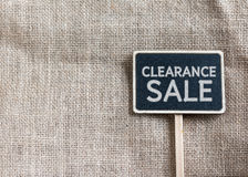 Clearance sale drawing on blackboard Stock Images