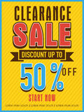 Clearance sale flyer, banner or template. Stock Image