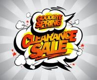 Clearance sale, goodbye spring poster, spring sale banner vector illustration