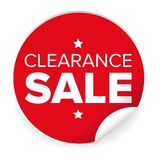 Clearance sale label red sticker Stock Images