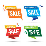 Clearance Sale many color 4 tag heading design for banner or pos Stock Photography