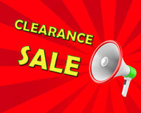 Clearance Sale. Megaphone business concept with text Clearance Sale,  illustration 3d rendering Stock Image
