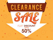 Clearance Sale Poster, Banner or Flyer design. Stock Photos