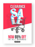 Clearance Sale Poster, Banner or Flyer design. Royalty Free Stock Images