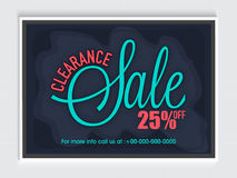 Clearance Sale Poster, Banner or Flyer design. Stock Image