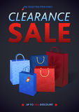 Clearance Sale Poster with percent discount Stock Photo