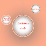 Clearance Sale Poster. 50% promo Stock Photography