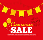 Clearance Sale Poster Royalty Free Stock Photo