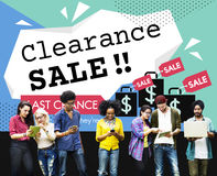 Clearance Sale Promotion Offer Discount Concept Royalty Free Stock Images