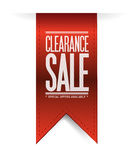 Clearance sale red banner illustration design. Over white Stock Image