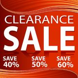 Clearance Sale Red Energy Wave Background Royalty Free Stock Photos