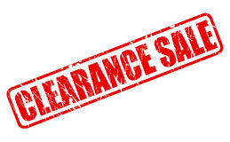 Clearance sale red stamp text Stock Image