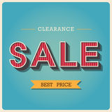 Clearance Sale Retro Type Font Royalty Free Stock Photo