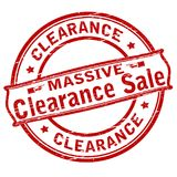 Clearance sale. Rubber stamp with text clearance sale inside,  illustration Royalty Free Stock Images
