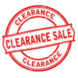 Clearance sale. Rubber stamp with text clearance sale inside,  illustration Stock Images