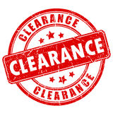 Clearance sale rubber vector stamp. On white background Royalty Free Stock Photos
