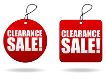Clearance Sale Tags. A pair of tags promoting a clearance sale Royalty Free Stock Images
