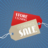 Clearance sale vector illustration, background with price tags vector illustration