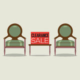 Clearance Sale Vintage Chairs. Stock Photography
