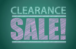 Clearance sale words written on the chalkboard Royalty Free Stock Images