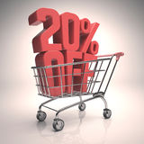 Clearance Shopping Cart Royalty Free Stock Photo