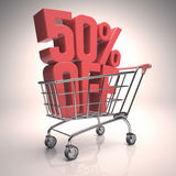 Clearance Shopping Cart Stock Image