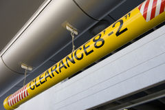 Clearance Sign. On Entrance to Parking Garage Stock Photography
