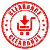 Clearance vector rubber stamp. Isolated on white background Royalty Free Stock Photos