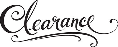 Clearance. Vector version of my own calligraphy Royalty Free Stock Photography