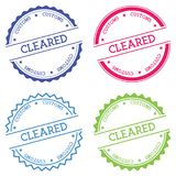 Cleared Customs badge isolated on white. Cleared Customs badge isolated on white background. Flat style round label with text. Circular emblem vector Royalty Free Stock Photo