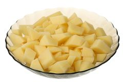Cleared potato Royalty Free Stock Image