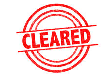 CLEARED Rubber Stamp Royalty Free Stock Photos