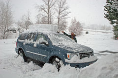 Clearing the car Stock Image