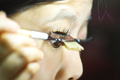 Clearing the eyelash Royalty Free Stock Photography