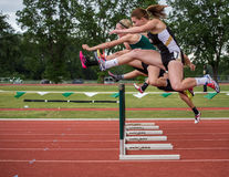 Clearing the First Hurdle stock photo