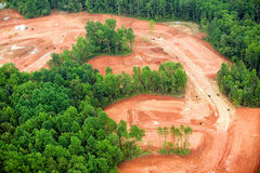 Clearing of land for housing development in Charlotte, North Carolina Royalty Free Stock Photos