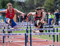 Clearing the Last Hurdles Royalty Free Stock Photos