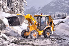 Clearing roads of snow Stock Photography