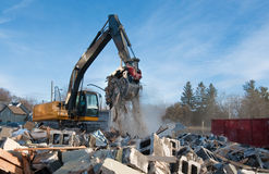 Clearing rubble Royalty Free Stock Photo
